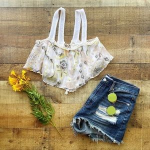 ⭐️Floral Boho Layered CROP TOP by Free People